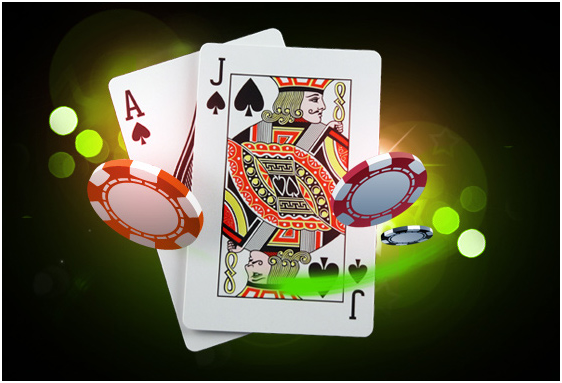 Playing cards joker design vector